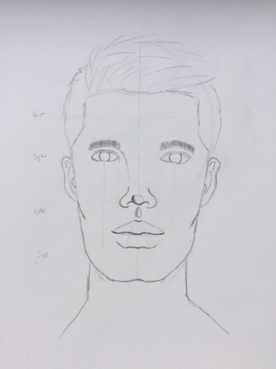 male face: all face parts