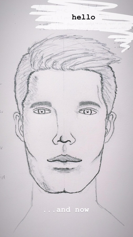 male face: eyes / fine tuning