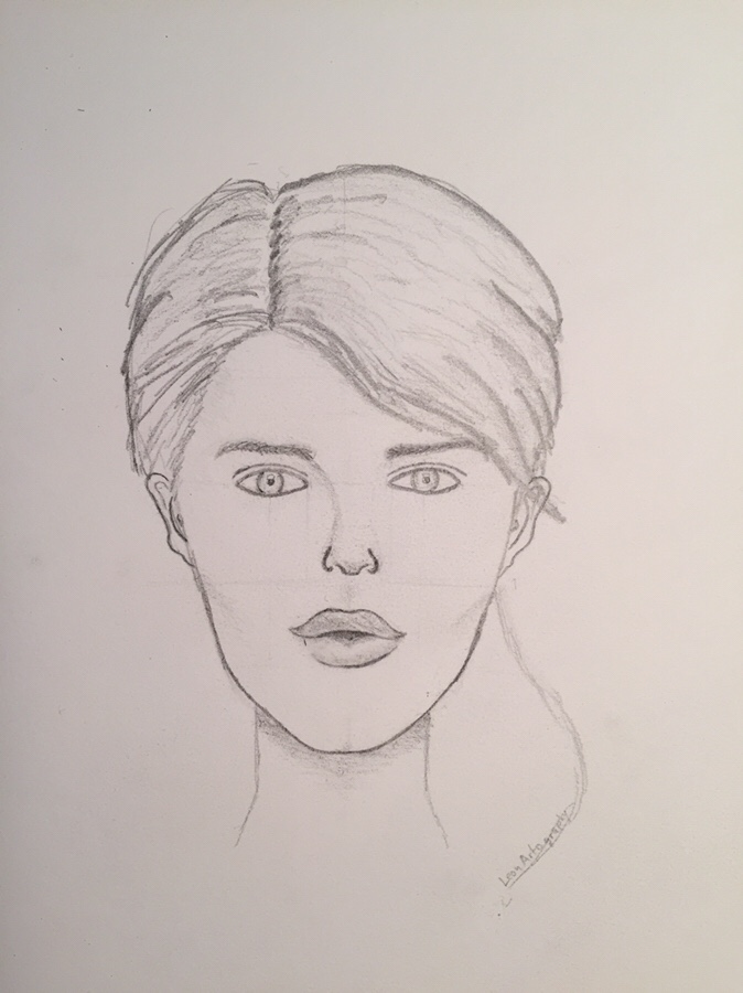 shading female face