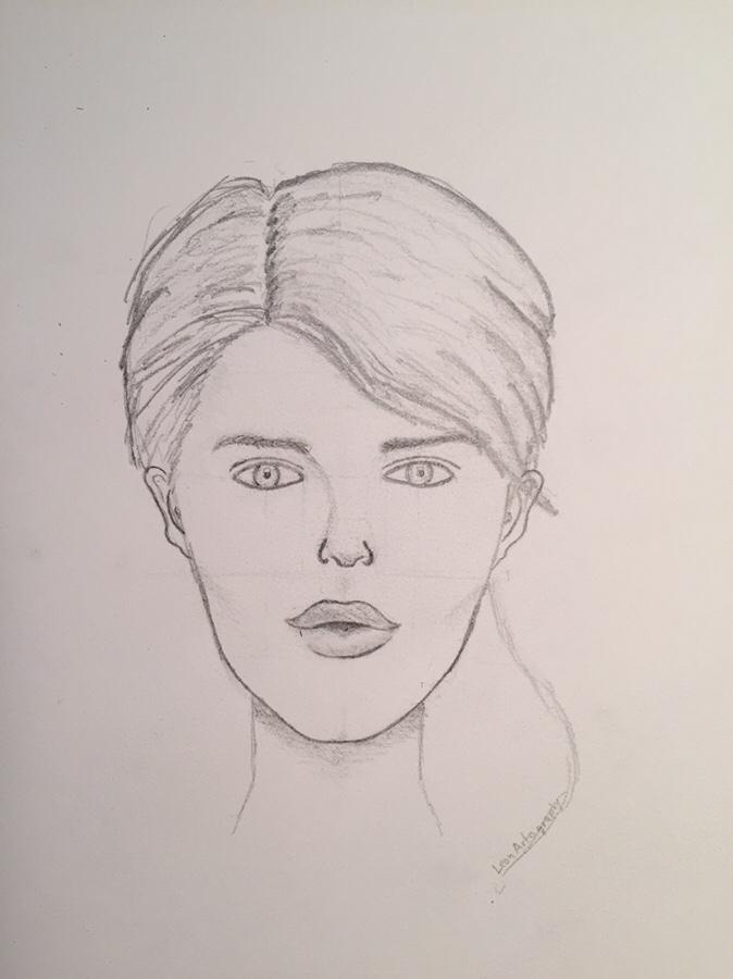 shading female face
